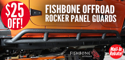 Fishbone Rocker Panel Guards $25 Mail-In Rebate
