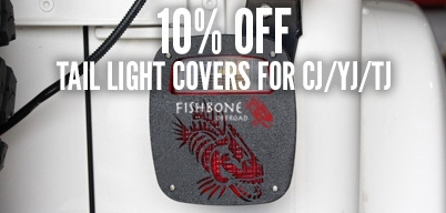 Fishbone Offroad TJ/YJ/CJ Tail Light Covers 10% Off
