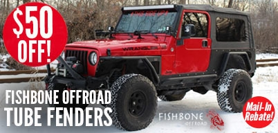 Fishbone Tube Fenders $50 Mail-In Rebate