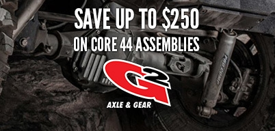 G2 Axle and Gear Core 44 Assemblies Save $250