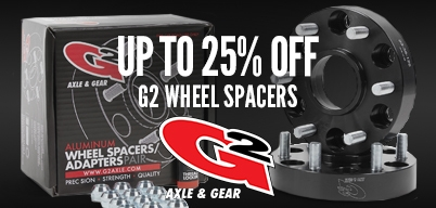 G2 Wheel Spacers Up to 25% Off