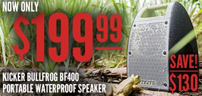 Kicker Bullfrog BF400 Portable Speaker Now $199.99
