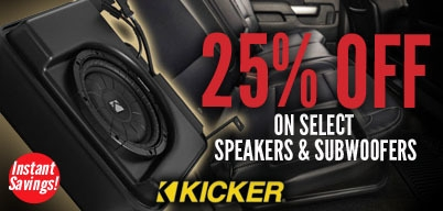 Kicker - 25% OFF Speakers and Subwoofers