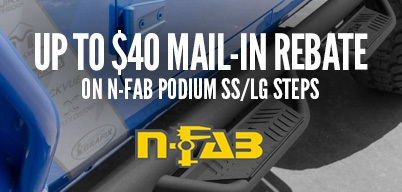 N-Fab Podium SS/LG Steps Up to $40 Mail-In Rebate