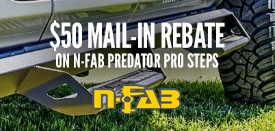 N-Fab Predator Pro Steps $50 Mail-In Rebate