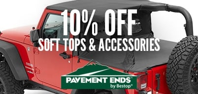 Pavement Ends 10% Off Soft Top & Accessories