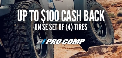 Pro Comp Tires Up to $100 Mail-In Rebate