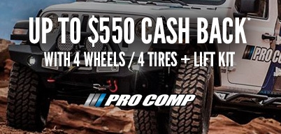 Pro Comp Triple Play Up to $550 Cash Back
