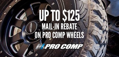 Pro Comp Wheels Up to $125 Mail-In Rebate