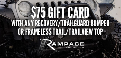 Rampage Bumpers & Soft Tops $75 Gift Card