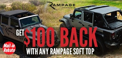 Rampage Trailview & Complete Soft Tops Get $100 Prepaid Master Card