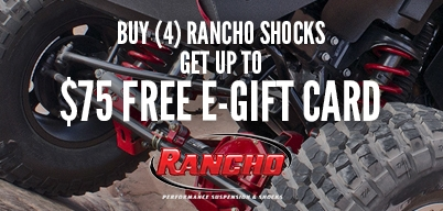 Buy (4) Rancho Shocks Get Up To $75 E-Gift Card