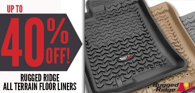 Rugged Ridge All-Terrain Floor Liners Up to 40% Off