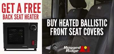 Rugged Ridge Ballistic Seat Cover Get Free Backseat Heater