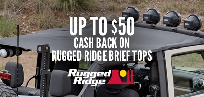 Rugged Ridge Brief Tops Up to $50 Cash Back