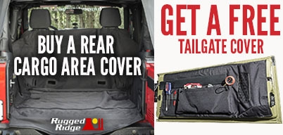 Rugged Ridge Cargo Covers Get Free Tailgate Cover
