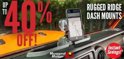 Rugged Ridge Dash Mounts Up to 40% Off