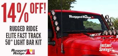 Rugged Ridge Elite Fast Track Light Bar Kit 14% Off