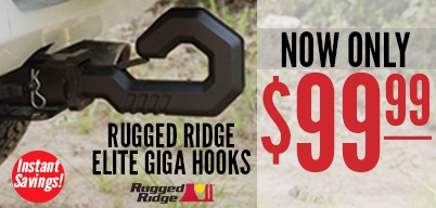 Rugged Ridge Elite Giga Hooks Now Only $99.99