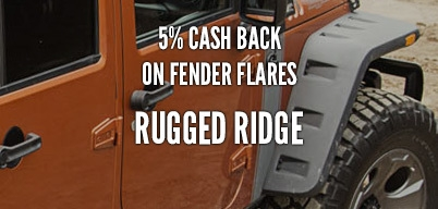 Rugged Ridge Fender Flares 5% Year Long Rebate