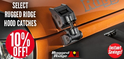 Rugged Ridge Hood Catches 10% Off
