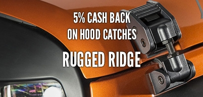 Rugged Ridge Hood Catches 5% Year Long Rebate