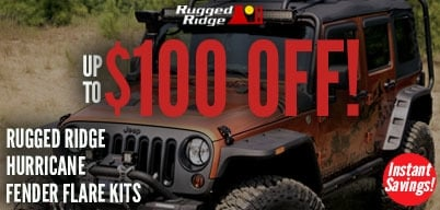 Rugged Ridge Hurricane Fender Flare Kits Up to $100 Off