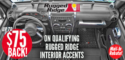 Rugged Ridge Interior Accents - Up to $75 Mail-In Rebate
