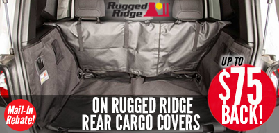 Rugged Ridge Cargo Covers - Up to $75 Mail-In Rebate
