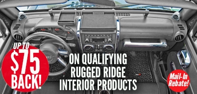 Rugged Ridge Interior Accessories Up to $75 Mail-In Rebate