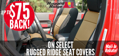 Rugged Ridge Seat Covers - Up to $75 Mail-In Rebate
