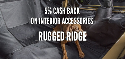 Rugged Ridge Interior Accessories 5% Year Long Rebate