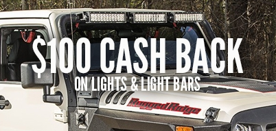Rugged Ridge - $100 back when you spend $599 or more on Rugged Ridge Lights, Light Bars and Accessories