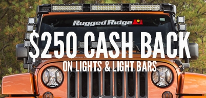 Rugged Ridge - $250 back when you spend $999 or more on Rugged Ridge Lights, Light Bars and Accessories