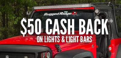 Rugged Ridge - $50 back when you spend $199 or more on Rugged Ridge Lights, Light Bars and Accessories