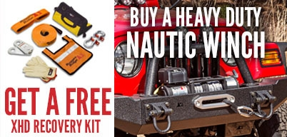 Rugged Ridge Nautic Winch Get Free Recovery Kit