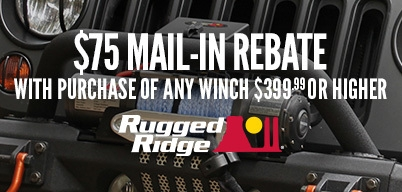 Rugged Ridge Winches $75 Mail-In Rebate