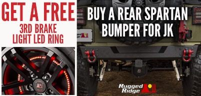 Rugged Ridge Rear Spartan Bumper Get Free Brake Light Ring