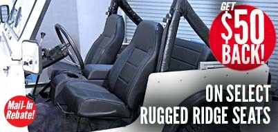 Rugged Ridge Seats $50 Mail-In Rebate