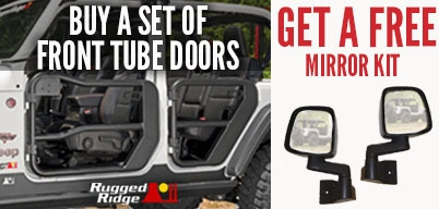 Rugged Ridge Tube Door Set Get Free Mirror Kit