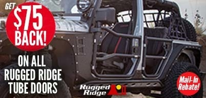 Rugged Ridge Tube Doors $75 Mail-In Rebatet