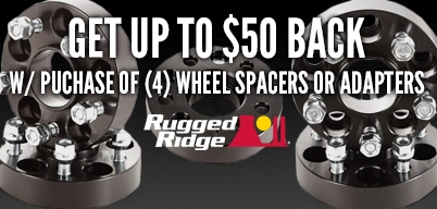 Rugged Ridge Wheel Spacers Up to $50 Cash Back