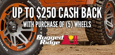 Rugged Ridge Wheels Up to $250 Cash Back