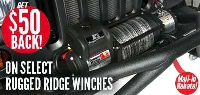 Rugged Ridge Winches $50 Mail-In Rebate