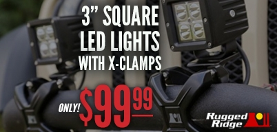 Rugged Ridge X-Clamp LED Light Kit for $99.99