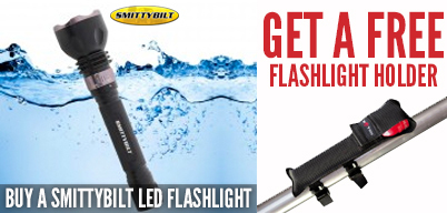 Smittybilt LED Flashlight Get Free Light Holder