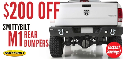 Smittybilt M1 Rear Bumpers $200 Off