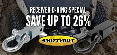 Smittybilt Hitch Receiver D-Rings Savings of 26%