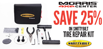 Save 25% On a Smittybilt Tire Repair Kit