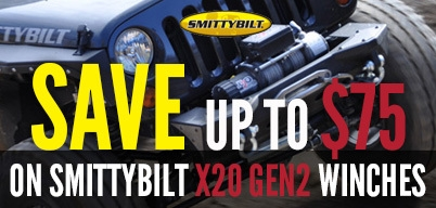 Smittybilt X20 Gen2 Winches Save Up to $75